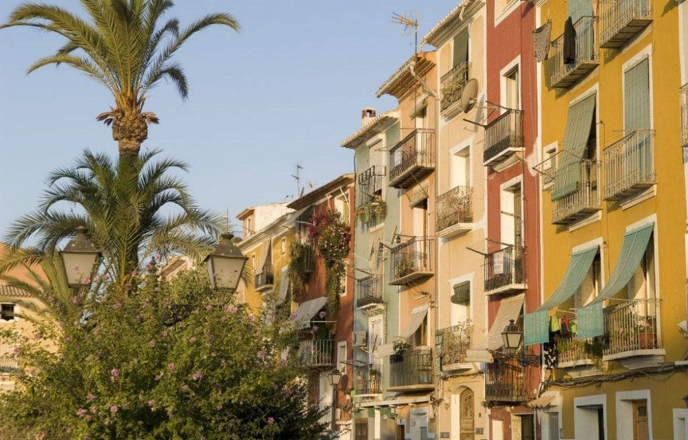 Coloured Houses in the old town of Villajoyosa
