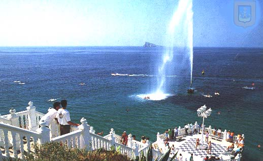 Benidorm viewpoint with Geyser on in 1988
