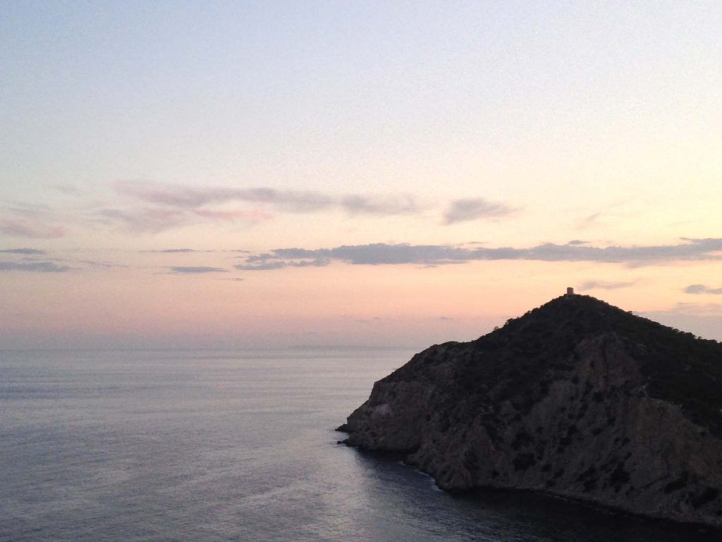 Views from Mont Benidorm, viewpoint of the hermitage of the Virgin Mary.