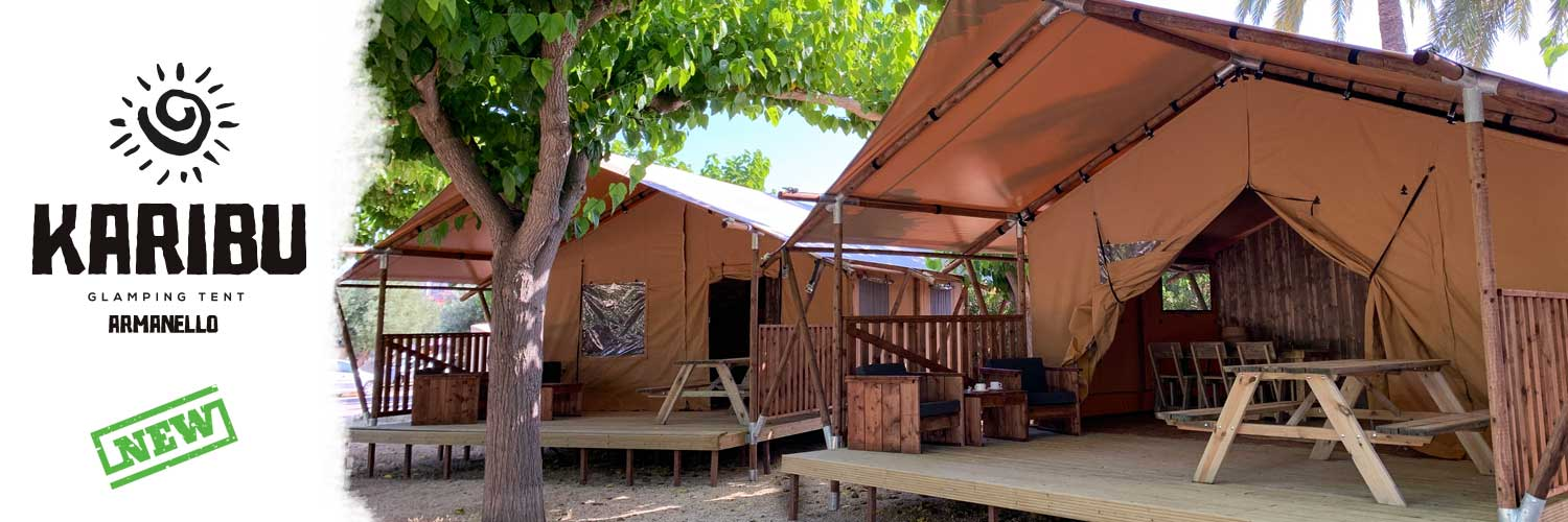 New Safari Tents for 4 or 5 people in Benidorm